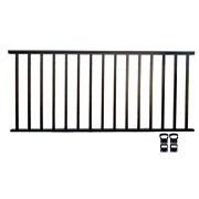 Contractor Handrail 6ft X 42in Alum Commercial Railing - Hammered Black
