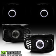 Smoked 1999-2003 Ford F150 99-02 Expedition Led Halo Projector Fog Lights+switch