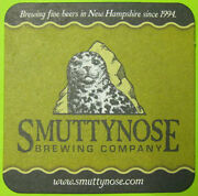 Smuttynose Brewing Towle Farm Road Beer Coaster Mat Hampton New Hampshire 2014