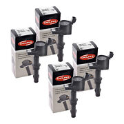 Set Of 4 Delphi Ignition Coil Gn10233 For Ford Mercury Lincoln 2008-2016