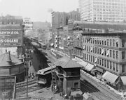 Wabash Avenue And Elevated Railroad, Chicago 11x14 Silver Halide Photo Print