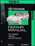 1994 Toyota Mr2 Repair Manual Volume 2 Chassis Body Electrical Shop Book New