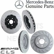 For Mercedes W219 Cls63 Amg Pair Set Of 2 Front And Rear Brake Disc Rotors Kit
