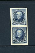Scott 227p5 Henry Clay Mint Nh Imperf Plate Proof Pair Of Stamps On Stamp Paper