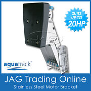 Heavy Duty Stainless Steel Outboard Auxiliary Motor Bracket Suits 7.5 Hp - 20 Hp