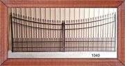 16and039 Wide Driveway Gate 1040a Inc Post Pkg Outdoor Yard Garden Home Security