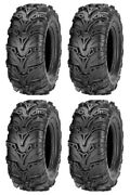 Four 4 Itp Mud Lite Ii Atv Tires Set 2 Front 28x9-14 And 2 Rear 28x11-14