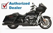 Bassani Black Road Rage 2 Into 1 Exhaust Pipe 4 Megaphone 17-20 Harley Touring