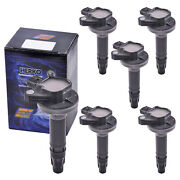 Set Of 6 Herko B182 Ignition Coils For Ford Lincoln Mazda Mercury 2008-2014