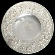 S Kirk And Son Sterling Silver Repousseand039 3d High Relief Low Footed Cake Dish 193