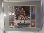 Sweet Framed Anfernee Hardaway Autograph Signed 8 X 10 Cards Display Man Cave