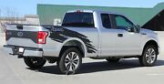 Torn   2015-2018 Ford Truck F-150 Stripes Decals Bedside Graphics 3m Wet Install