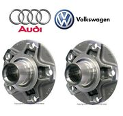 For Audi A6 A8 Quattro Rs4 Vw Passat W8 Pair Set Of Rear Left And Right Wheel Hubs
