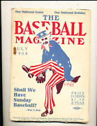 July 1908 Baseball Magazine 3rd Issue Ex Condition