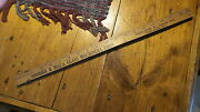 Antique Advertising Expandable Yardstick Sommer And Maca Glass Machinery Chicago
