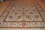 9and039 X 11and039 Top Quality Beige Background Rust Brown Gold Green Gray Chobi Rug