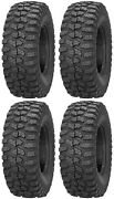 Four 4 Sedona Rock-a-billy Atv Tires Set 2 Front 26x9-12 And 2 Rear 26x11-12