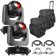 2 Chauvet Dj Intimidator Beam 140sr Moving Head Lights With Cases Package