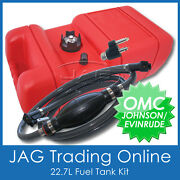 Boat Fuel Tank Kit - Omc Johnson/evinrude Fuel Line And Fitting And 22.7 Litre Tank