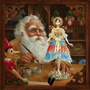 James Christensen The Gift For Mrs. Claus Limited Edition Giclee Canvas