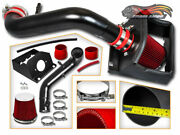 Matte Black Cold Shield Air Intake Kit + Red Filter For 11-13 Ford F150 5.0l