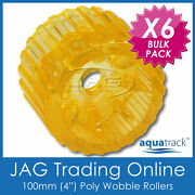 6 X 100mm 4 Solid Polyurethane Boat Trailer Non-marking Yellow Wobble Rollers