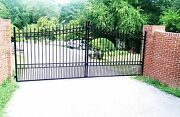 Wrought Iron Style Driveway Entry Gate 16 Ft Wd Ds Swing Commercial Residential