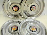 1950 1951 1952 1953 Oldsmobile Hubcaps 15 Wheel Covers Set Of Four 4