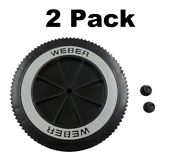 2 Weber Grill Part 63050 8 Wheel And Cap - Gas And Charcoal Kettle Grills