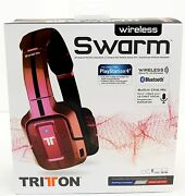 New Mad Catz Tritton Wireless Swarm Headset Bluetooth Ps4/ps3/pc/iphone Red/pink