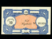East Africa Command10 Centstoken Money Wwii Military Ef+