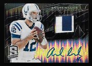 One Of One 2013 Spectra Black Atomic Andrew Luck 2-color Jersey Auto 1/1 Colts