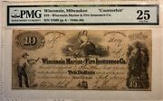 Obsolete Banknote - Wisconsin Marine And Fire Insurance Co. - Pmg 25 Very Fine R-7