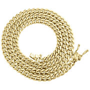 10k Yellow Gold 5mm Solid Miami Cuban Link Chain Box Clasp Necklace 20-30 Inch