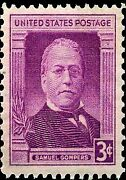 Us Postage Photo Magnet Samuel Gompers 1950 3 Cents Not A Real Stamp