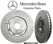 For Mercedes W218 W212 Pair Set Of 2 Front Disc Brake Rotors Slotted Xdrilled
