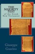 The Majority Text Of The Greek New Testament By Giuseppe Guarino English Pape