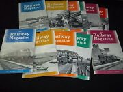 1960 The Railway Magazine Lot Of 11 Issues - Complete Year Of Trains - Gg 1218