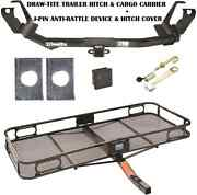 05-07 Chrysler Town And Country Trailer Hitch + Cargo Basket Carrier + Silent Pin