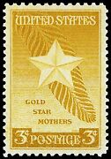 Photo Magnet Gold Star Mothers 1947 Issue 3 Cents Not Real Stamp