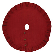 Christmas Tree Skirt 60 - Jute Burlap In Red By Park Designs - Home Decor