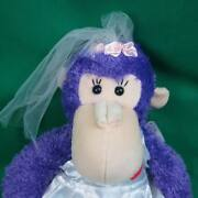New Say Yes Marriage Proposal Wedding Purple Monkey Sugarloaf Plush Bride Gown