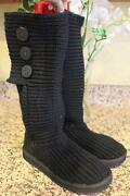 Ugg 5819 Women's Black Classic Cardy Boots Size 7 Ugg100