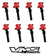 Vms Racing High Output Energy Red Ignition Coil Fits 98-08 Ford Crown Victoria