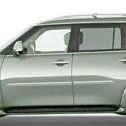 Painted Body Side Moldings With Chrome Trim Insert For Nissan Armada 2016-2020