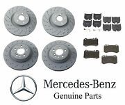 For Mercedes Cl55 S55 Amg 03-06 Genuine Front And Rear Disc Brake Rotors W/ Pads