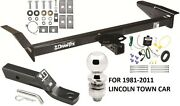 1981-2011 Lincoln Town Car Complete Trailer Hitch Package W/ Wiring Kit Class 3