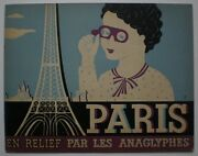 Old 9 France 1930sand039 Stereoscopic Album S Photo Anaglyph 3d Book S Paris Pre Wwii