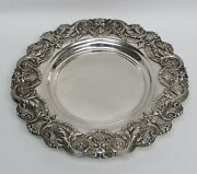 Fabulous Antique Mauser Sterling Silver Bacchus Head 8 1/4 Wine Coaster