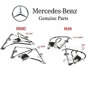 For Mercedes W463 G-class Set Of 2 Front And Rear Window Regulators And Motors Kit